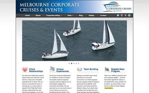 Screenshot of Home Page Site Map Page melbournecorporatecruises.com.au - Melbourne Corporate Cruises & Events - captured Sept. 30, 2014