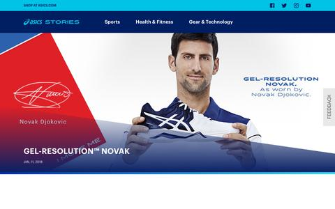 Screenshot of Blog asics.com - ASICS Stories - US - Sports, Fitness and Inspiration articles from ASICS - captured Jan. 22, 2020