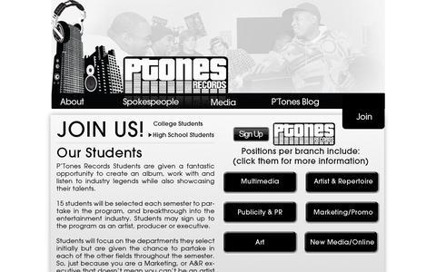 Screenshot of Signup Page ptonesrecords.com - PTones Records :: Join - captured Sept. 26, 2014