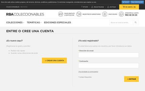 Screenshot of Login Page rbacoleccionables.com - Identificador de cliente - captured Dec. 22, 2016