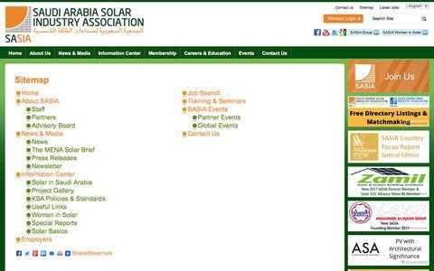 Screenshot of Site Map Page saudi-sia.com - Sitemap | Saudi Arabia Solar Industry Association - captured Oct. 24, 2017