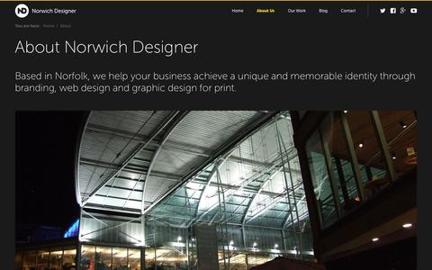 Screenshot of About Page norwichdesigner.com - About Us - Creative Agency, Graphic Design, Branding, Web Design - captured Jan. 11, 2016