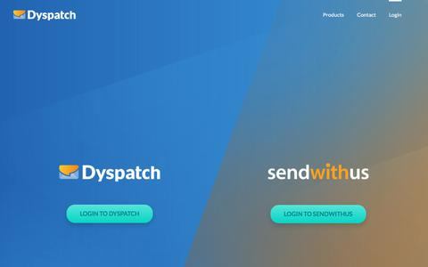 Screenshot of Login Page dyspatch.io - Login | Dyspatch / Sendwithus Transactional Email Management - captured July 12, 2019