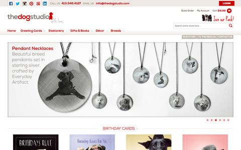 Screenshot of Home Page thedogstudio.com - The Dog Studio | Greeting Cards, Gifts, and Stationery for Dog Lovers - captured Feb. 24, 2016