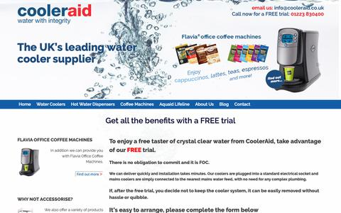 Screenshot of Trial Page cooleraid.co.uk - No Obligation Free Trial - captured Sept. 29, 2018