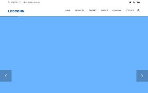 Screenshot of Home Page ledconn.com - LED Light Guide Panels | Ledconn Corp. - captured Oct. 4, 2016