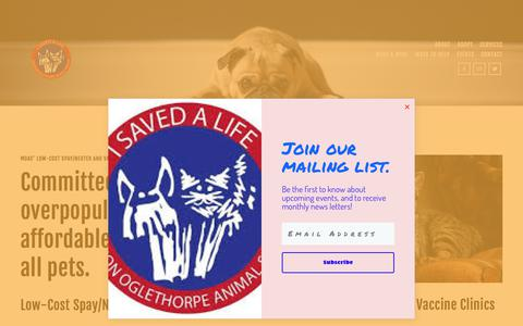 Screenshot of Services Page moaspets.com - Clinic — MOAS Pets - captured July 4, 2018