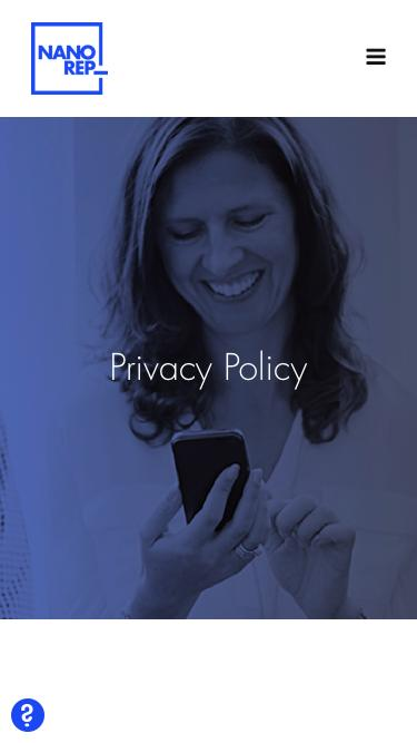 Screenshot of About Page  nanorep.com - Privacy Policy | Nanorep - Digital Customer Self-Service Solution