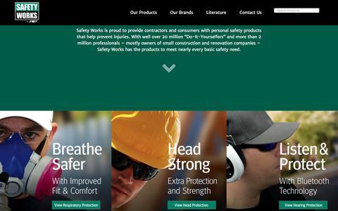 Screenshot of Home Page safetyworks.com - Safety Works - captured May 27, 2017
