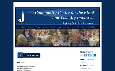 Screenshot of Contact Page communitycenterfortheblind.org - Contact | - captured Oct. 2, 2014