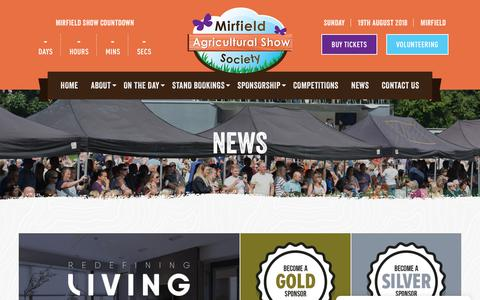 Screenshot of Press Page mirfieldshow.com - News | Mirfield Show - captured Sept. 21, 2018