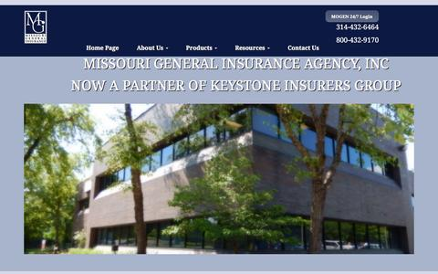 Screenshot of Blog missourigeneral.com - Missouri General Insurance Agency joins Keystone Insurers Group - captured Feb. 16, 2016