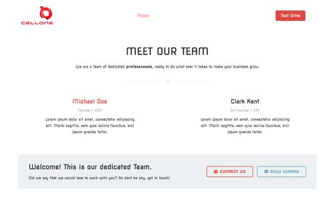 Screenshot of Team Page incellone.com - Meet the Team - captured Oct. 4, 2016