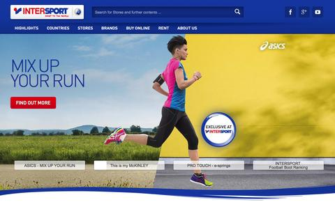 Screenshot of Home Page intersport.com - INTERSPORT - Sport to the People - captured June 19, 2015