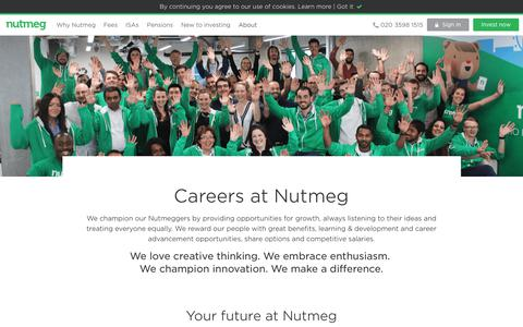 Careers - Nutmeg