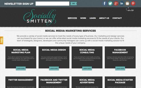 Screenshot of Services Page sociallysmitten.com - Social Media Marketing l Socially Smitten Marketing - captured Oct. 7, 2014