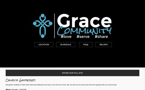 Screenshot of About Page gcbc.info - About - Grace Community Baptist Church - captured Nov. 14, 2016