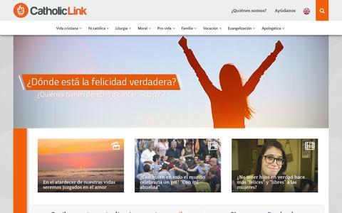 Screenshot of Home Page catholic-link.com - Catholic-Link | Recursos para la Nueva Evangelización - captured Sept. 23, 2014