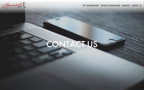 Screenshot of Contact Page sagemontchurch.org - Contact Us   Sagemont Church - captured Nov. 5, 2018