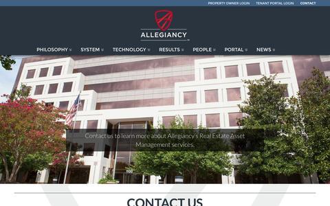 Screenshot of Contact Page allegiancy.us - Contact Us | AllegiancyAllegiancy - captured Nov. 4, 2015