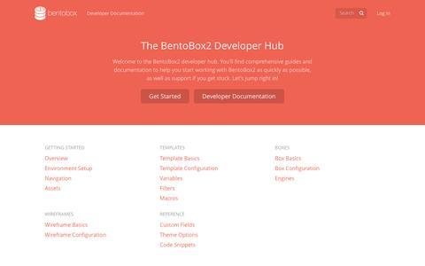 Screenshot of Developers Page getbento.com - BentoBox - captured Aug. 14, 2016