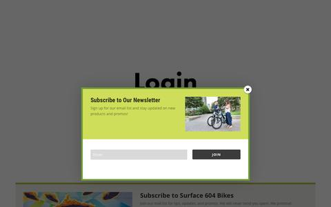 Screenshot of Login Page surface604.com - My Account | Electric Fat Bike | Surface 604 - captured May 20, 2017