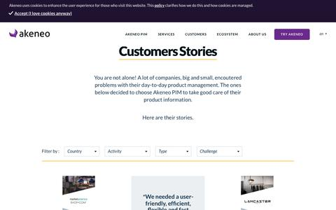 Customers Stories - Akeneo - The Open Source PIM