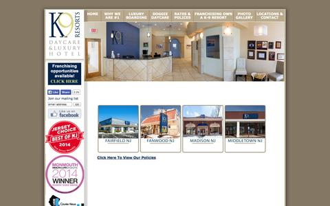 Screenshot of Pricing Page k9resorts.com - K-9 Resorts Daycare & Luxury Hotel - captured Oct. 3, 2014