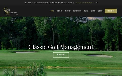 Screenshot of Home Page cgmgolf.com - Classic Golf Management - Woodstock, GA - captured Aug. 2, 2017