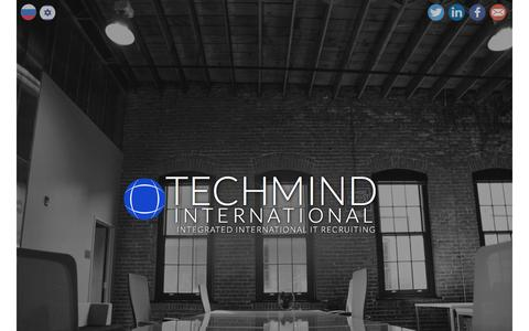 Screenshot of Home Page techmindintl.com - TECHMIND International - Techmind - captured Feb. 14, 2016