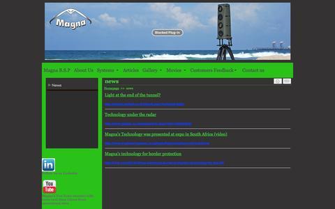 Screenshot of Press Page magnabsp.com - news - www.magnabsp.com - captured Dec. 21, 2015