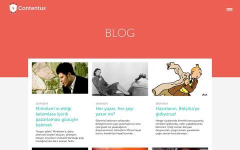 Screenshot of Blog contentus.net - İçerik Pazarlaması Üzerine Yazılar - captured Sept. 25, 2014