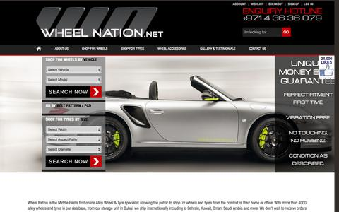 Screenshot of Home Page wheelnation.net - WheelNation.net – The Middle East's preferred wheel / tyre specialist - captured Jan. 22, 2015