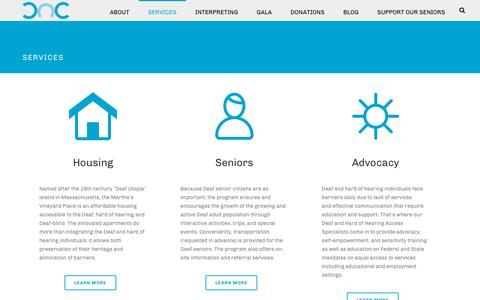Screenshot of Services Page dactexas.org - Services - Deaf Action Center - Dallas, Texas - captured Oct. 8, 2018