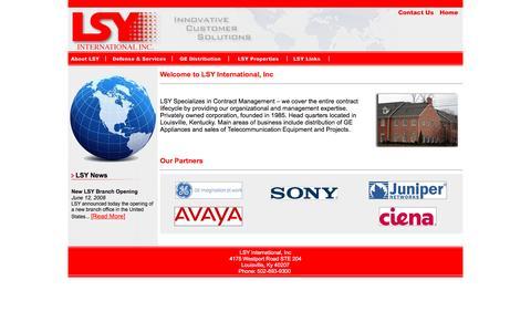 Screenshot of Home Page lsyinc.com - LSY International, Inc - Innovative Customer Solutions - captured Jan. 23, 2016