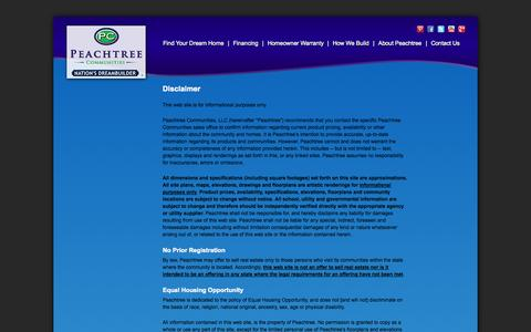 Screenshot of Privacy Page Terms Page peachtreecommunities.com - Legal Disclaimer - Peachtree Communities - captured Sept. 18, 2014