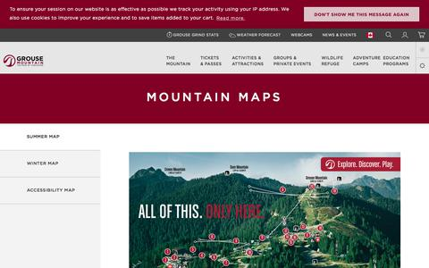 Screenshot of Maps & Directions Page grousemountain.com - Maps  | Grouse Mountain - The Peak of Vancouver - captured July 25, 2018
