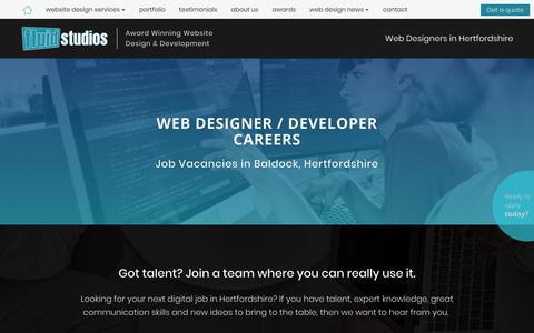 Screenshot of Jobs Page fluidstudiosltd.com - Fluid Studios | Careers in Web Design and Web Development | Jobs in Hertfordshire - captured Dec. 10, 2018
