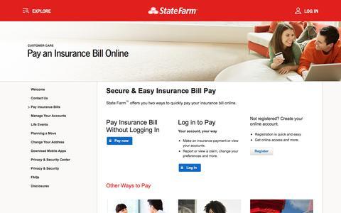 Insurance Bill Pay ‐ State Farm™
