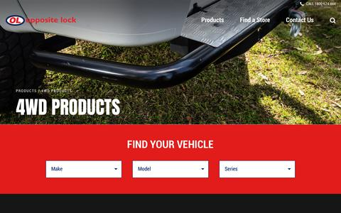 Screenshot of Products Page oppositelock.com.au - 4WD Products - Opposite Lock - captured Nov. 17, 2018