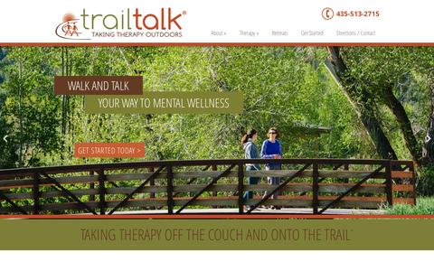 Screenshot of Home Page trailtalkpc.com - Trail Talk | Taking Therapy Outdoors - captured Oct. 7, 2014