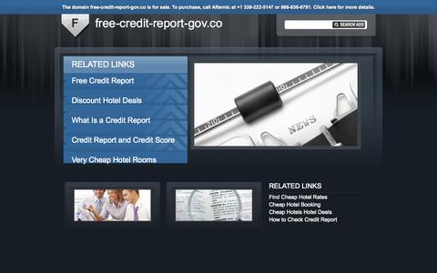 Screenshot of Home Page free-credit-report-gov.co - free-credit-report-gov.co - captured Sept. 22, 2015
