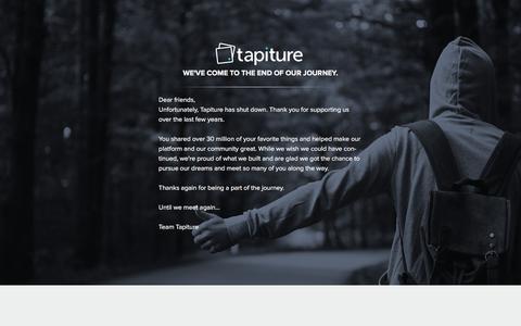 Screenshot of Login Page tapiture.com captured Oct. 14, 2015