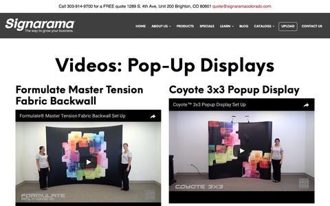 Videos: Pop-Up Displays | Signarama Colorado