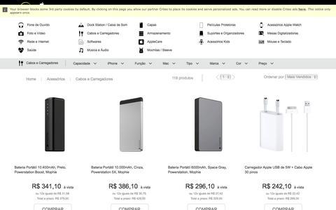 Cabo, Adaptador, Carregador Apple com preços especiais em até 12X!