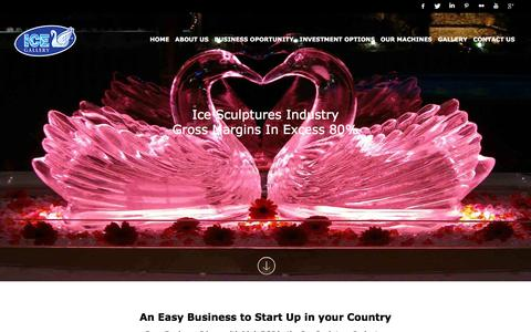 Screenshot of Home Page icegallery.biz - Easy Business to Start | IceGallery.biz - captured Nov. 25, 2016