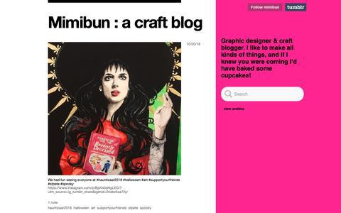 Screenshot of tumblr.com - Mimibun : a craft blog - captured Oct. 22, 2018