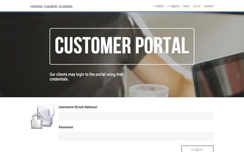 Screenshot of Login Page defaultroute.co.uk - Customer Portal   defaultroute.co.uk - captured Dec. 19, 2018