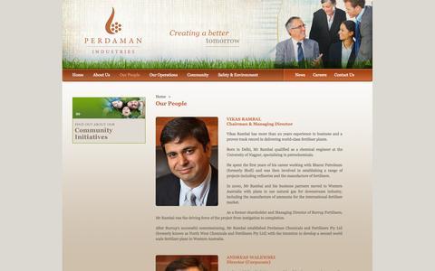Screenshot of Team Page perdaman.com.au - Perdaman Industries: Our People - captured Oct. 2, 2014