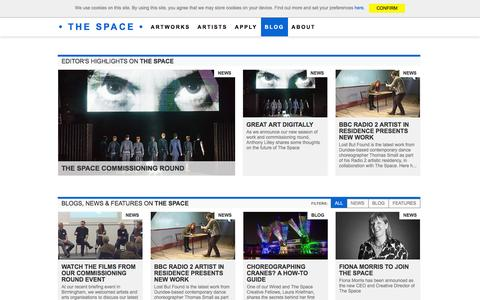 Screenshot of Press Page thespace.org - News - The Space - captured Jan. 19, 2016